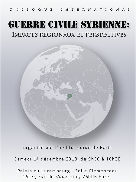COLLOQUE : GUERRE CIVILE SYRIENNE