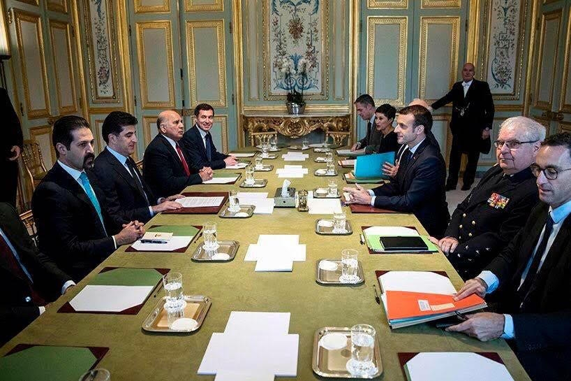 Prime Minister Barzani And French President Discuss Iraq And